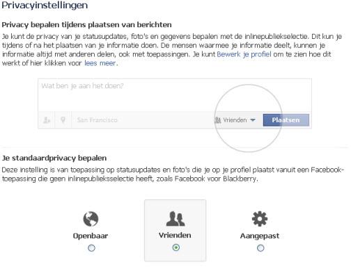 instellingen Facebook