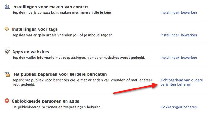 hoe stel ik privacy facebook in