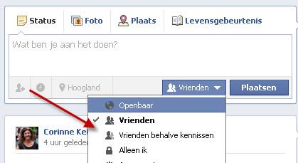 facebook vrienden updates