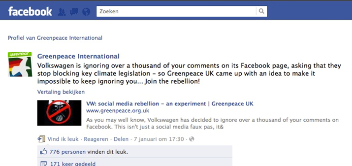 facebook pagina beheren