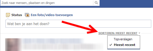 waar zijn de updates van facebook