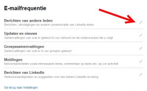 linkedin emails aanpassen