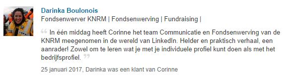 LinkedIn recensie Corinne Keijzer