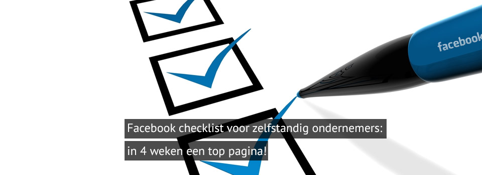 in 4 weken een top Facebook pagina