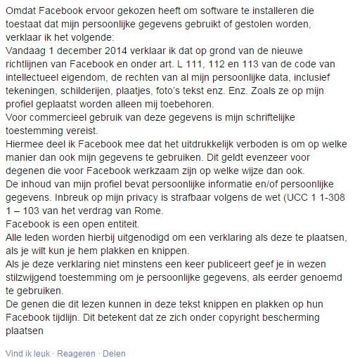 nieuwe facebook voorwaarden