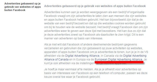 nieuwe voorwaarden facebook
