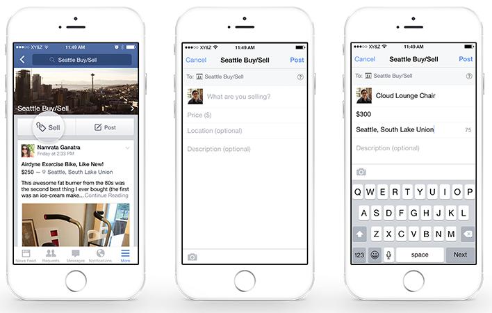 Nieuwe verkoopfunctie Facebook