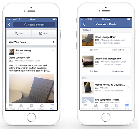 Facebook concurent van Marktplaats en Ebay