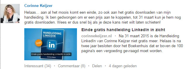 LinkedIn handleiding Corinne Keijzer