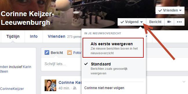 tijdlijn instellen facebook