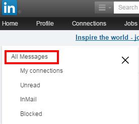 LinkedIn berichten systeem