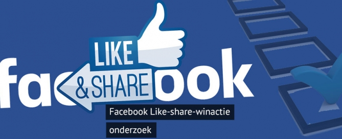 like & share acties Facebook
