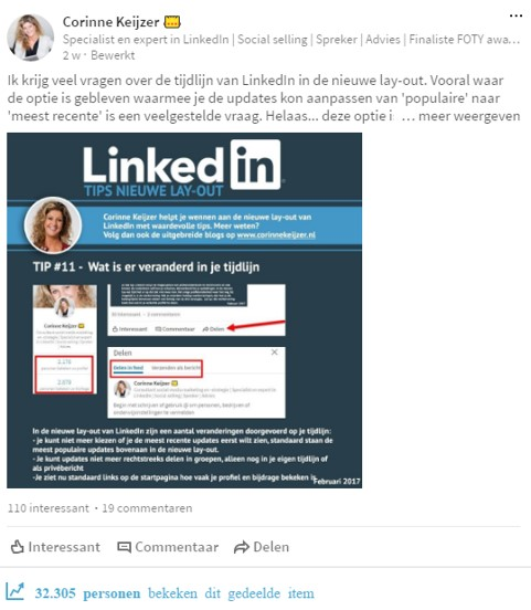 linkedin contentcreatie
