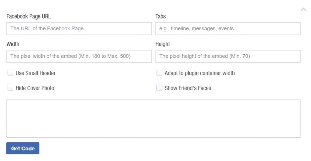 Facebook Page PLugin configuratie
