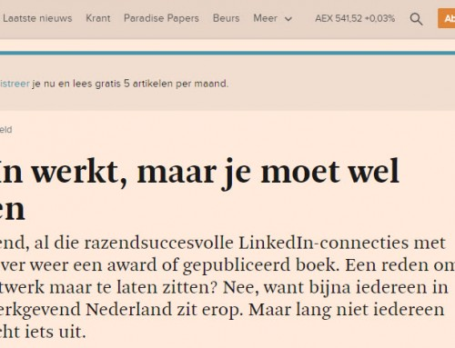 Interview Financieel Dagblad over LinkedIn