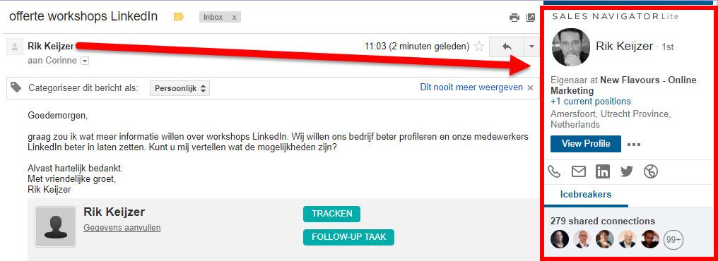 gmail linkedin koppeling