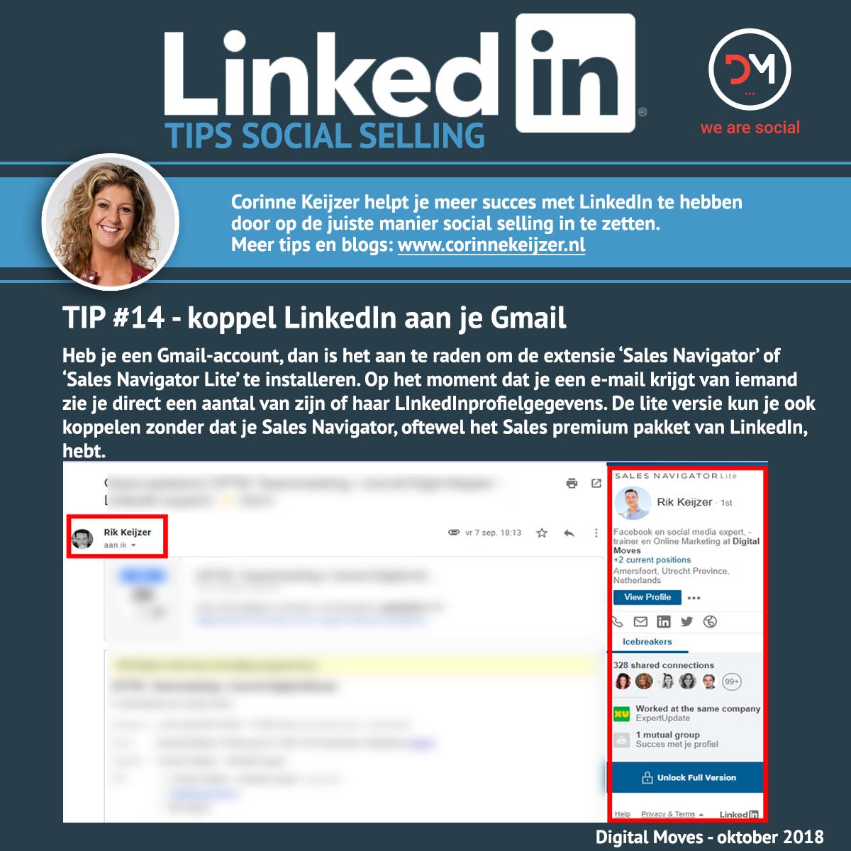 Hoe koppel je LinkedIn aan Gmail