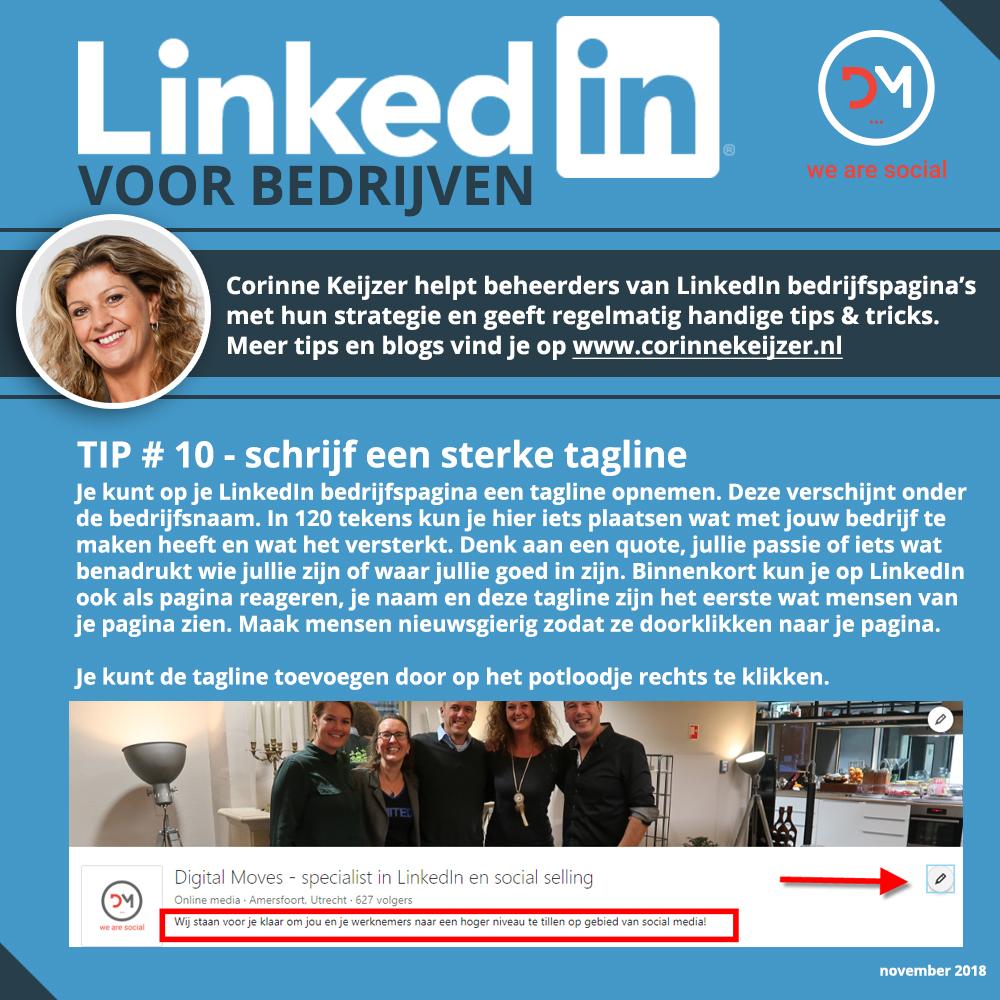 slogan bedrijfspagina linkedin