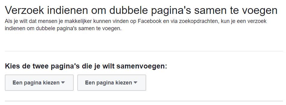 Een onofficiële Facebook locatiepagina claimen en samenvoegen
