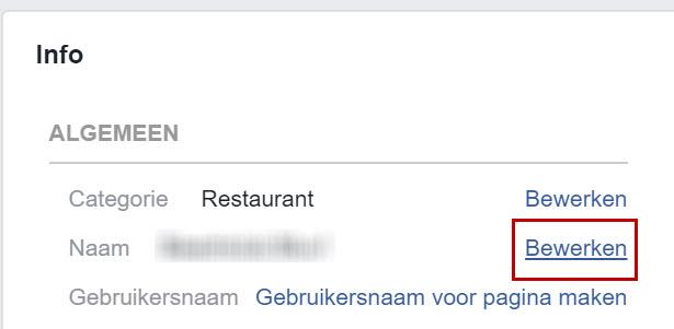 Facebook naam bewerken