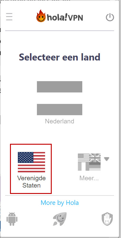 Installeren van VPN software 'Hola'