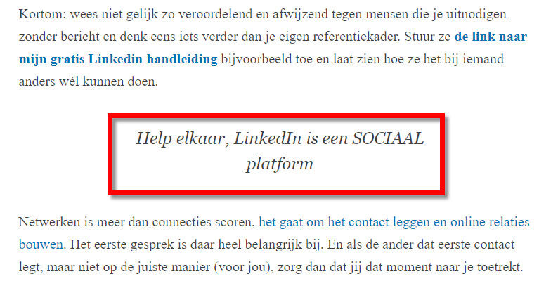 linkedin bloggen