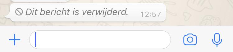 Een WhatsApp bericht verwijderen
