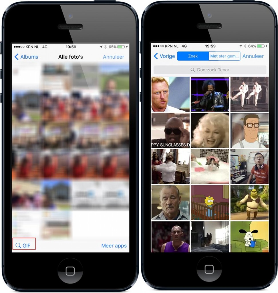 GIFje in WhatsApp gebruiken