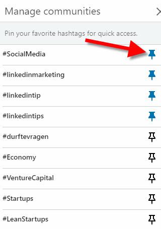 hashtags volgen linkedin