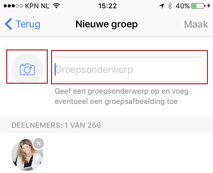 Een nieuwe groep maken in WhatsApp