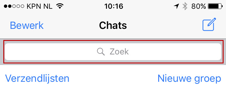 Zoeken in WhatsApp