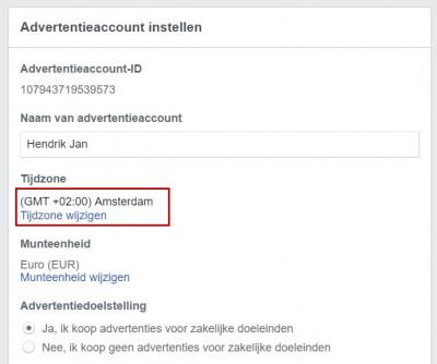 Facebook advertentiebeheer opzetten - stap 05