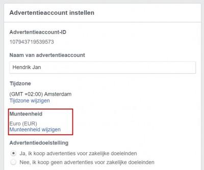 Facebook advertentiebeheer opzetten - stap 06