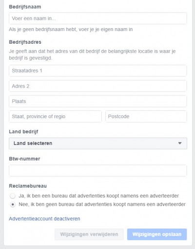 Facebook advertentiebeheer opzetten - stap 07