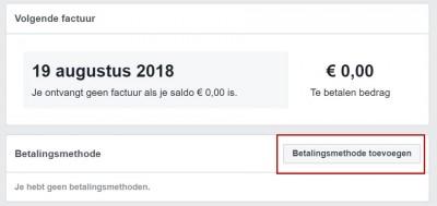 Facebook advertentiebeheer opzetten - stap 09