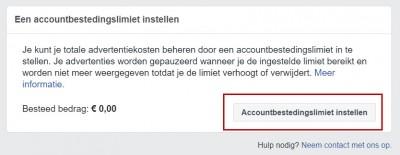 Facebook advertentiebeheer opzetten - stap 11