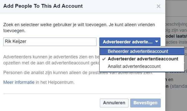 Facebook advertentiebeheer opzetten - stap 16