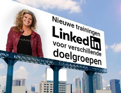 Nieuwe trainingen LinkedIn voor verschillende doelgroepen