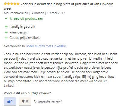 recensie meer succes met linkedin