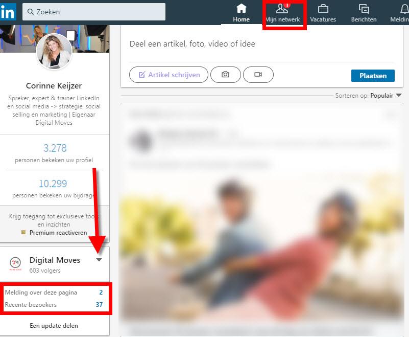 linkedin bedrijfsprofiel beheren