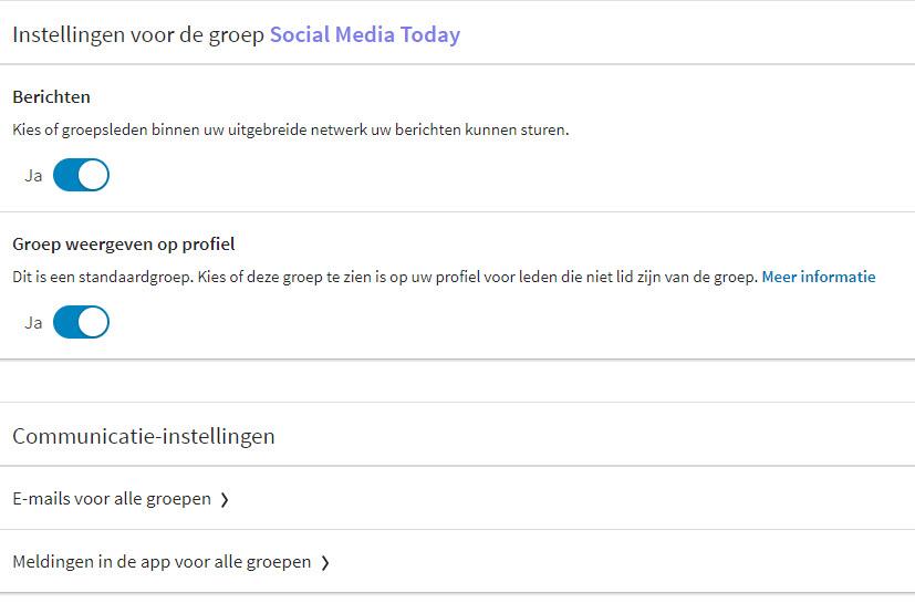 hoe stel je groepen linkedin in