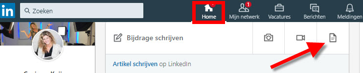 hoe documenten in update linkedin