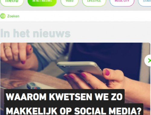 Interview Metro over kwetsen op social media