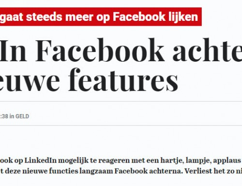 Interview Telegraaf over toekomst LinkedIn