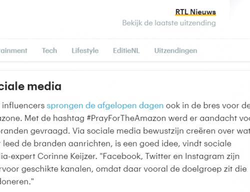 Interview RTL Nieuws over Amazone branden