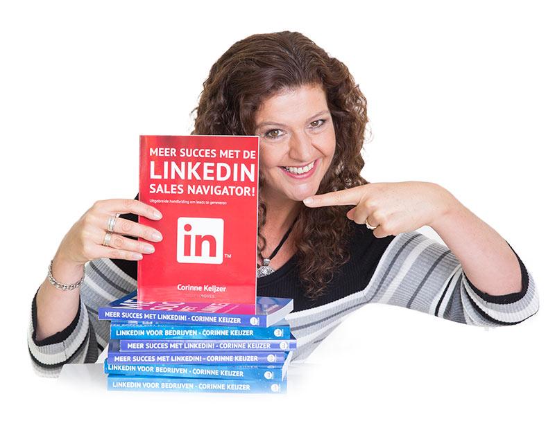 """Social media expert Corinne Keijzer - auteur van het boek 'Meer succes met de LinkedIn Sales Navigator"""""""