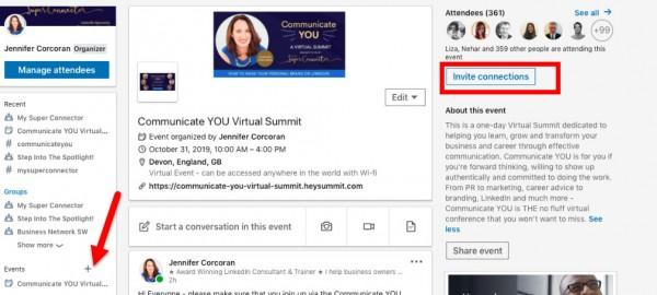 LinkedIn evenementen