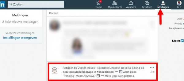 reageren als linkedin company page