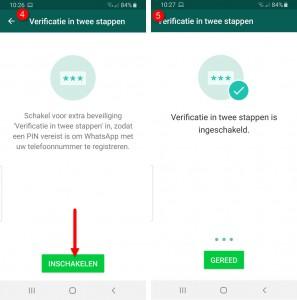 beveiligen whatsapp account