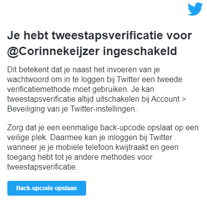 Twitter dubbele inlog veiligheid